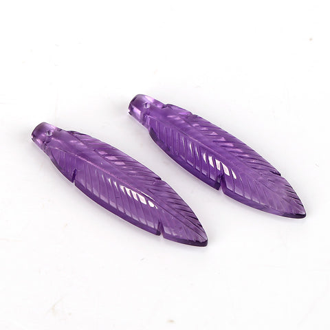 Purple earrings stone