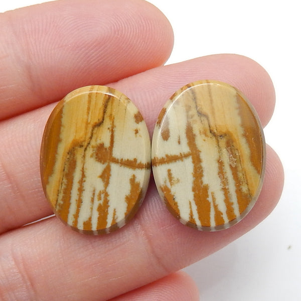 Natural Owyhee Oval Gemstone Cabochon Pair, 20x15x3mm, 3.4g - MyGemGarden