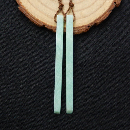 Amazonite Long Dangle Earrings, 56x4x4mm, 4.5g - MyGemGarden