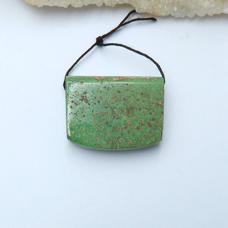 Natural Turquoise Drilled Pendant Bead, 37x29x12mm, 25.8g - MyGemGarden
