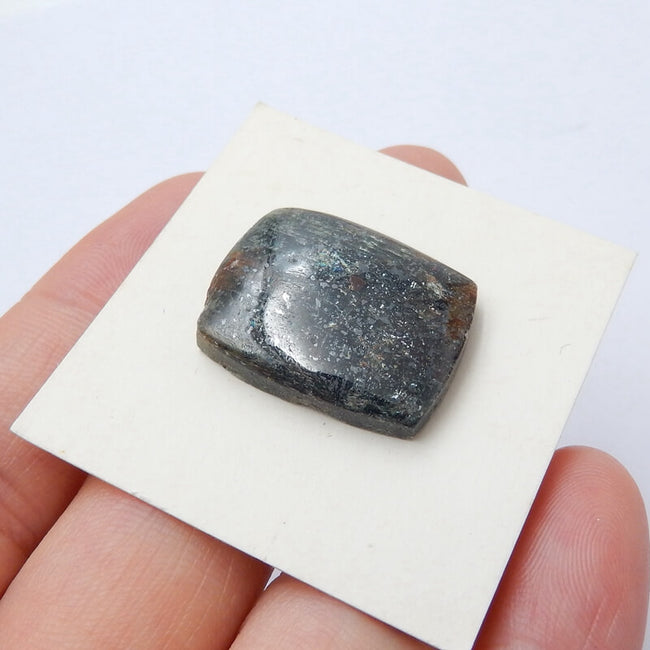 Natural Blue Kyanite Gemstone Cabochon, 22x17x5mm, 5.3g - MyGemGarden
