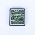 Black Jasper and Green Zebra Jasper Glued Rectangle Pendant, 31x29x6mm, 13.7g - MyGemGarden