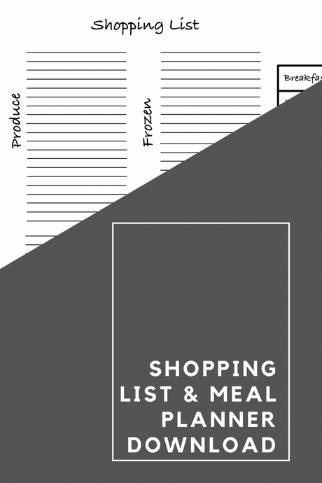 Shopping List & Meal Planner