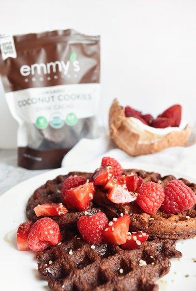 Chocolate Cookie Waffles | Emmy's Organics
