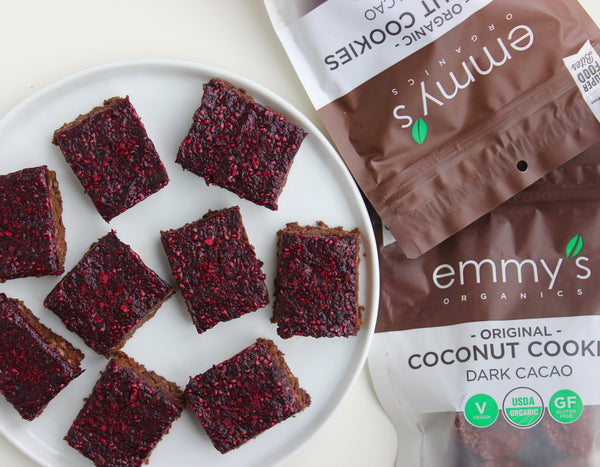 Dark Chocolate Coconut Crunch Bars | Emmy's Organics