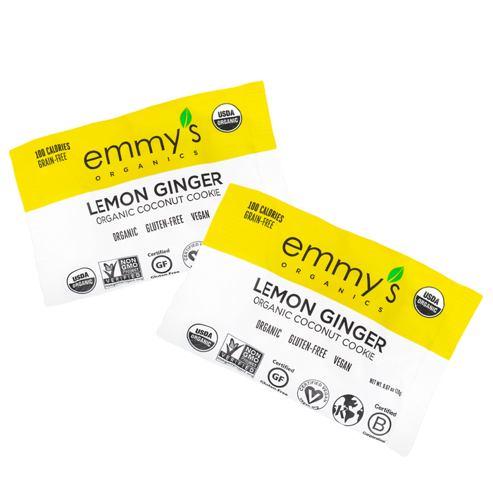 Organic Lemon Ginger -1- Case (24 Individually Wrapped Cookies)