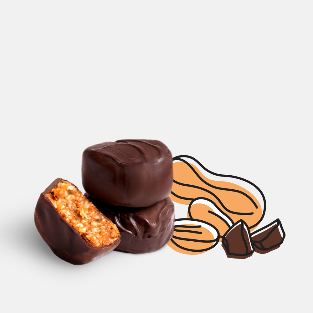 Load image into Gallery viewer, Organic Chocolate Covered Bites – Peanut Butter