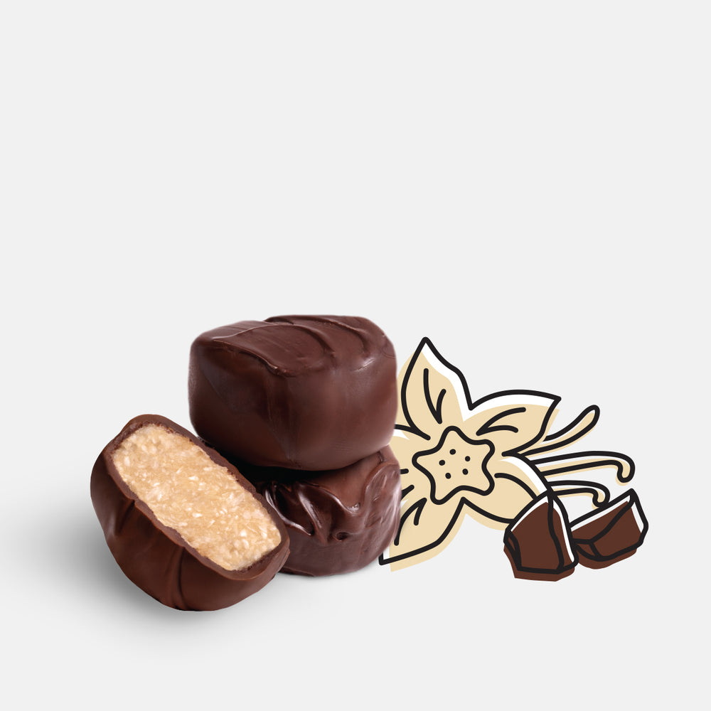 Load image into Gallery viewer, Organic Chocolate Covered Bites – Vanilla