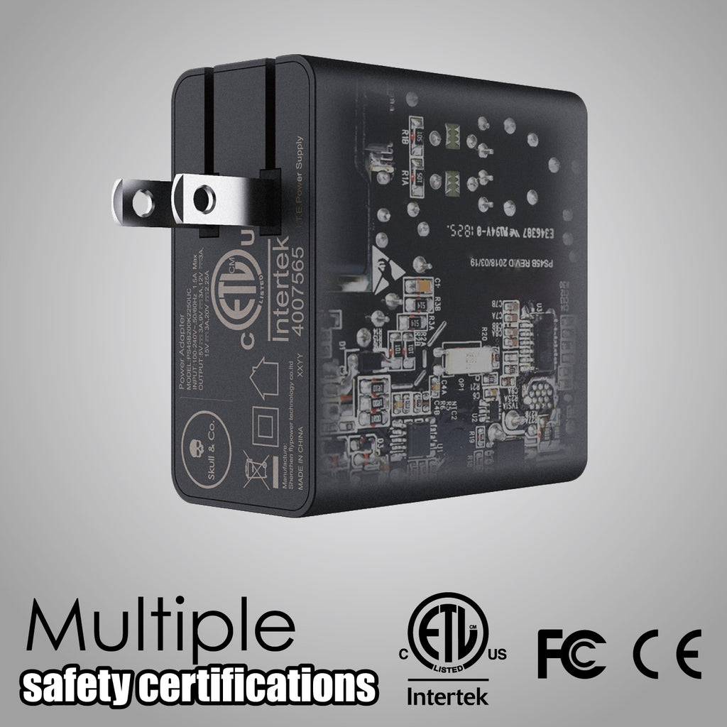 AC adapter with safety certifications