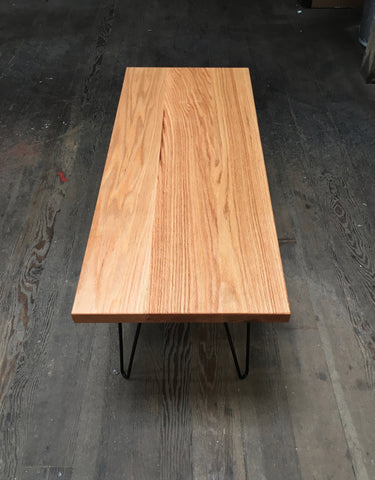 oak coffee table workshop