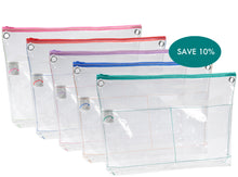 "Load image into Gallery viewer, Zipped Reusable Organizer 20"" Bag Set of 5"