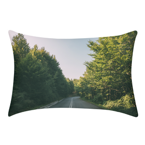 Forested Road Queen Pillow Case