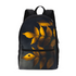 Yellow Leaves Small Canvas Backpack