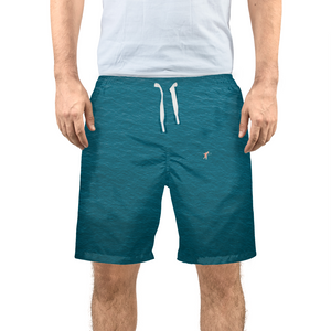 A Man In A Blue Sea Men's Swim Trunk