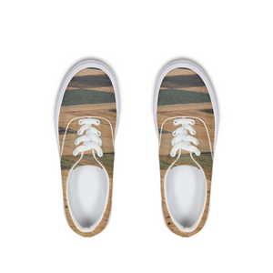Yellow Fields Lace Up Canvas Shoe