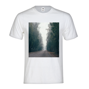 Foggy Forest Road Kids Graphic T-Shirt