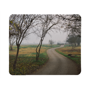Foggy Trees Mouse Pad