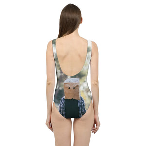 The Hiding Face Women's One-Piece Swimsuit