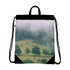 The Hiding Cow Canvas Drawstring Bag