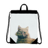 Cat&Forest Canvas Drawstring Bag