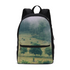 The Hiding Cow Small Canvas Backpack