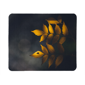 Yellow Leaves Mouse Pad