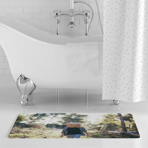 The Hiding Face Bath Mat