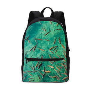 Deep Water Small Canvas Backpack
