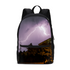 Purple Light Small Canvas Backpack