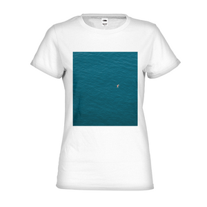 A Man In A Blue Sea Women's Graphic T-Shirt