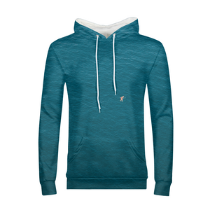 A Man In A Blue Sea Men's Hoodie