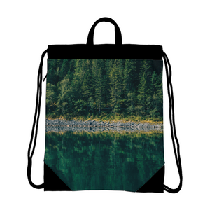 Crazy reflection Canvas Drawstring Bag