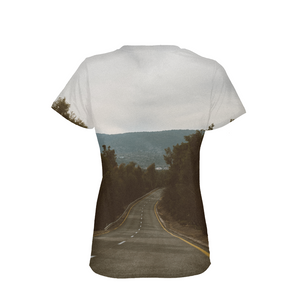The Road Between The Forests - Womens T-Shirt