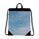 Blue Sky Canvas Drawstring Bag