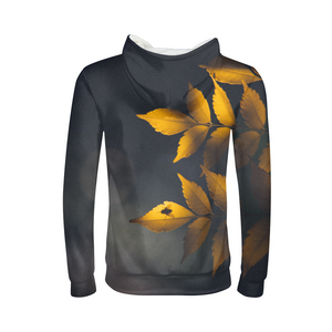 Yellow Leaves Kids Hoodie