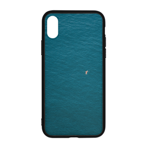 A Man In A Blue Sea iPhone X Case