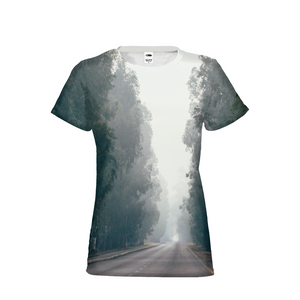 Foggy Forest Road Women's T-Shirt