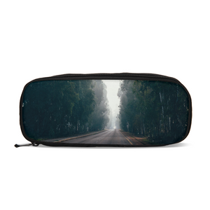 Foggy Forest Road Pencil Case