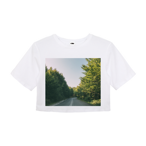 Forested Road Women's Crop Top