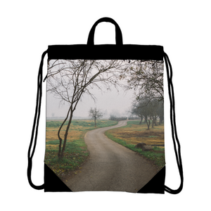 Foggy Trees Canvas Drawstring Bag