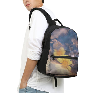 Flower Power Small Canvas Backpack