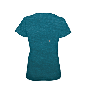 A Man In A Blue Sea Women's T-Shirt
