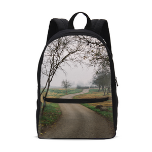 Foggy Trees Small Canvas Backpack
