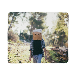 The Hiding Face Mouse Pad