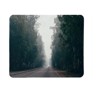 Foggy Forest Road Mouse Pad