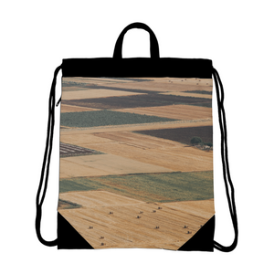 Yellow Fields Canvas Drawstring Bag