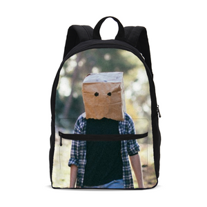 The Hiding Face Small Canvas Backpack