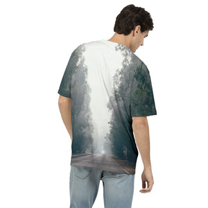 Foggy Forest Road Men's T-Shirt