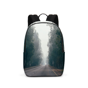 Foggy Forest Road Large Backpack