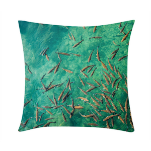 "Deep Water Throw Pillow 18""x18"""